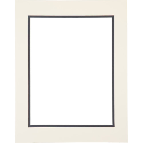 "Logan Graphics 11 x 14"" Double Mat Frame with 8.5 x 10.5"" Opening (Seashell White/Harbor)"