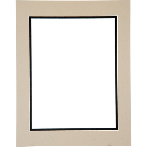 "Logan Graphics 11 x 14"" Double Mat Frame with 8.5 x 10.5"" Opening (Brownstone/Cappucino)"