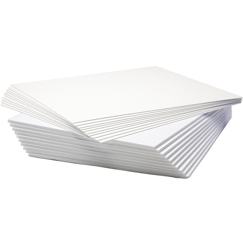 "Logan Graphics Seashell White Mat Board and Foam Board Backing (11 x 14"", 10-Pack)"
