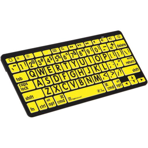 LogicKeyboard XL Print American English Bluetooth 3.0 Mini Keyboard (Black on Yellow)