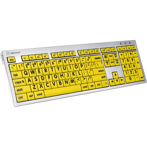 LogicKeyboard Large Print ALBA Mac Pro American English Keyboard (Black on Yellow)
