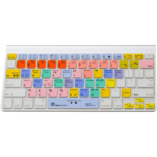 LogicKeyboard LogicSkin American English Transparent Keyboard Cover for Ableton Live 9