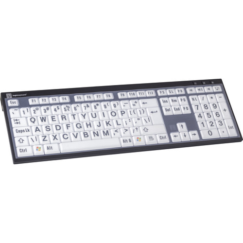 LogicKeyboard Clear Silicone Cover for PC Slim Line / Nero PC Slim Line Keyboard