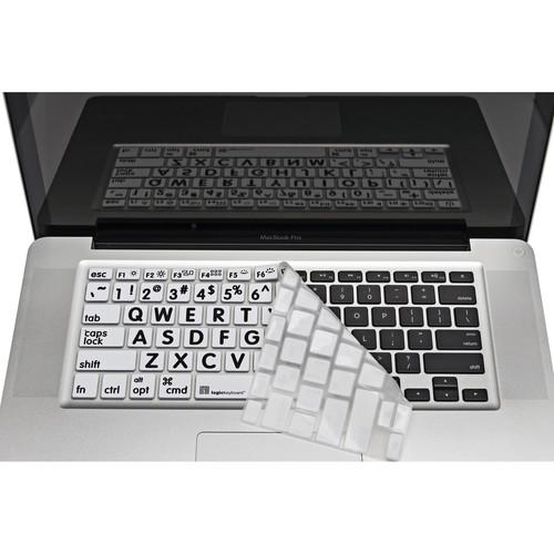 LogicKeyboard LogicSkin XLPrint Black on White Keyboard Cover for Aluminum Unibody MacBook