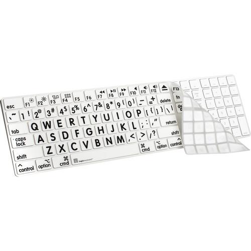LogicKeyboard XL-Print Cover for Full-Sized Apple Magic Keyboard (Black / White)