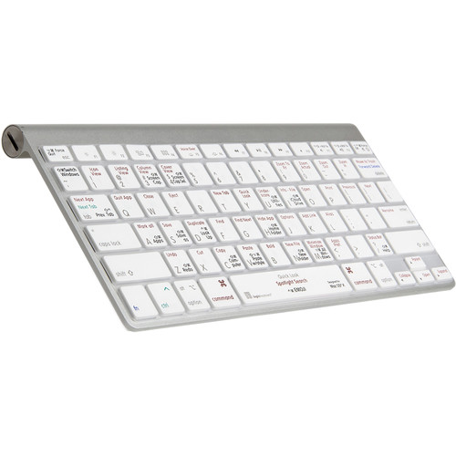 LogicKeyboard Mac OS X Shortcut American English Keyboard Cover for Select MacBook Models
