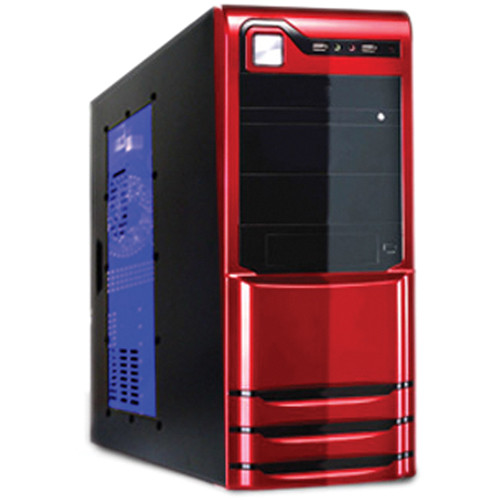 Logisys 10-Bay Mid-Tower Computer Case with 480W Power Supply