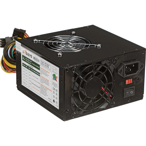 Logisys 550W Dual Fan Switching Power Supply (Black)