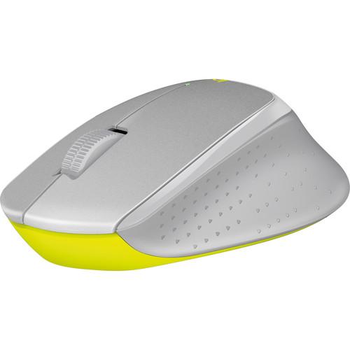 Logitech M330 Silent Plus Wireless Mouse (Gray/Yellow)