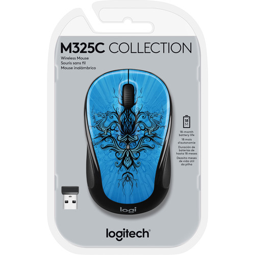 Logitech M325c Wireless Mouse (Blue Trance)