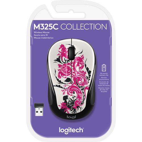 Logitech M325c Wireless Mouse (Floral Spiral)