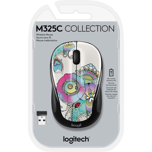 Logitech M325c Wireless Mouse (Lady on the Lily)