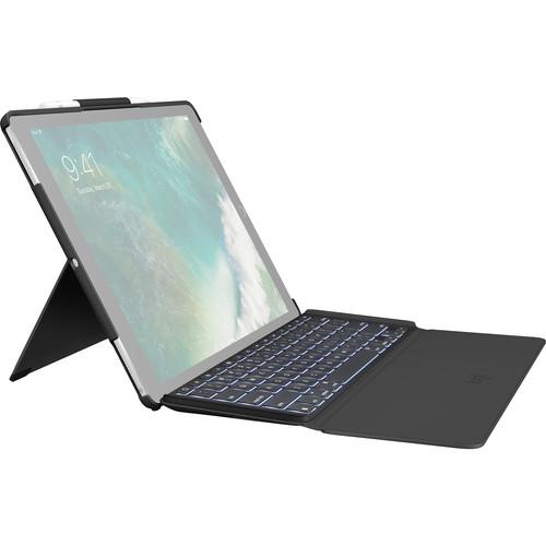 """Logitech SLIM COMBO Keyboard Case for 1st/2nd-Gen Apple iPad Pro 12.9"""" (Black)"""