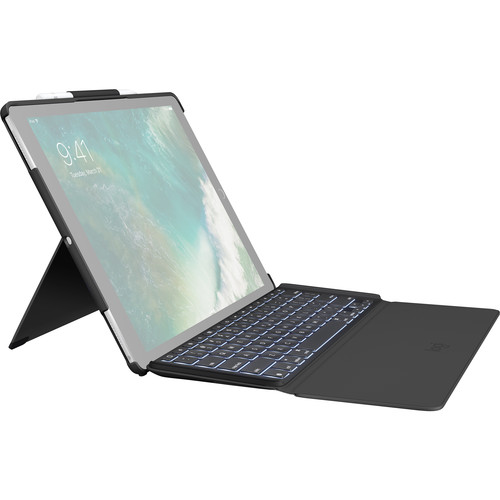 """Logitech SLIM COMBO Keyboard Case for Apple iPad Pro 12.9"""" (Black)"""