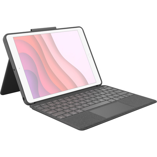 Logitech Combo Touch Backlit Keyboard Case for Apple iPad (7th/8th/9th Gen) (Graphite)