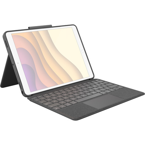 """Logitech Combo Touch Backlit Keyboard Case for Apple iPad Air (3rd Gen) and Apple 10.5"""" iPad Pro (Graphite)"""