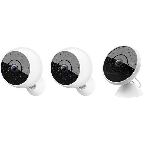 Logitech Circle 2 1 Wired 2MP & 2 Wire-Free 2MP Cameras Multi-Pack
