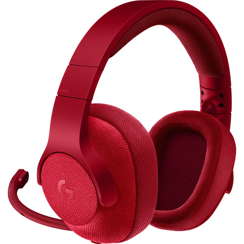 Logitech G433 7.1 Wired Surround Gaming Headset (Red)