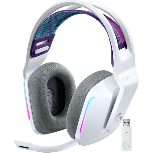 Logitech G G733 LIGHTSPEED Wireless RGB Gaming Headset (White)