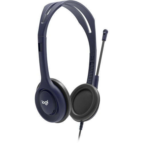 Logitech Wired 3.5mm Education Headset (Midnight Blue, 5-Pack)