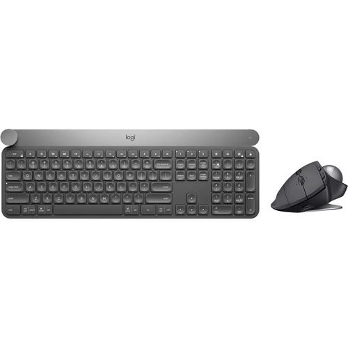 Logitech Craft Wireless Keyboard & MX Ergo Wireless Trackball Mouse Kit