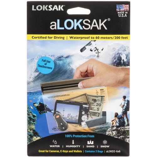 """LOKSAK Plastic Dry Bag 200' Rated (2-Pack, 6.75 x 6"""")"""