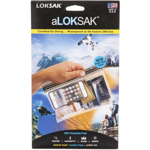 """LOKSAK Plastic Dry Bag 200' Rated (2-Pack, 9 x 6"""")"""