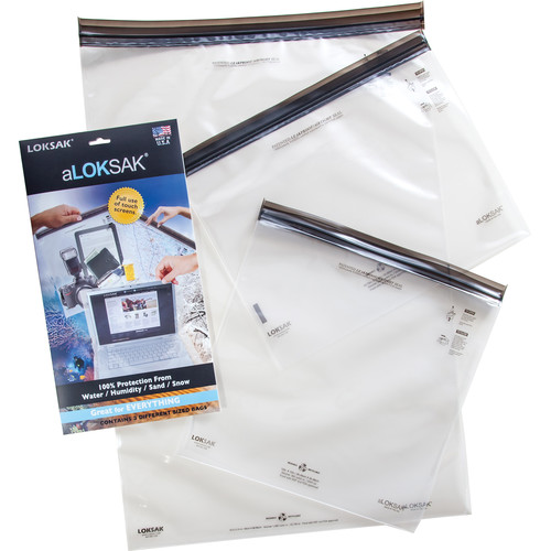 "LOKSAK aLOKSAK Waterproof Bags - Large Multipack (12 x 12"", 13 x 11"", 16 x 24"")"