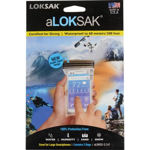 "LOKSAK aLOKSAK Waterproof Bags - 3 x 7"" (2-Pack)"