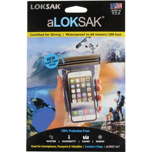 "LOKSAK aLOKSAK Waterproof Bags - 4 x 7"" (2-Pack)"