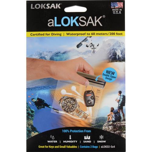 "LOKSAK aLOKSAK Waterproof Bags - 5 x 4"" (2-Pack)"