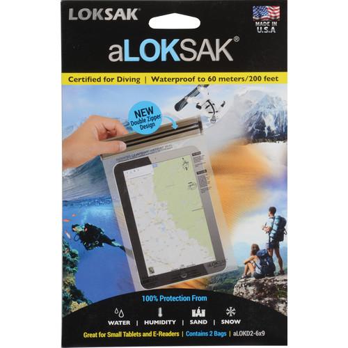 "LOKSAK aLOKSAK Waterproof Bags - 6 x 9"" (2-Pack)"