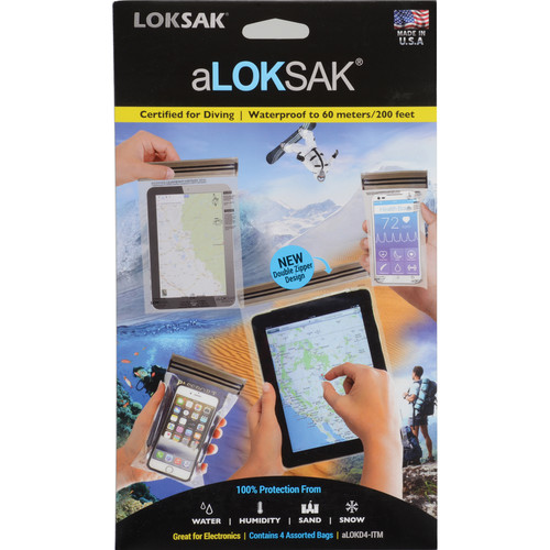 "LOKSAK aLOKSAK Waterproof Bags (Set of 4) (3.7 x 7, 4 x 7, 6 x 9 & 8 x 11"")"