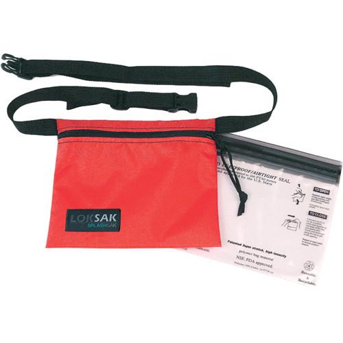 "LOKSAK SPLASHSAK 7 x 6"" Dipper FP with Two 6.75 x 6.00"" aLOKSAK Waterproof Bags (Red)"