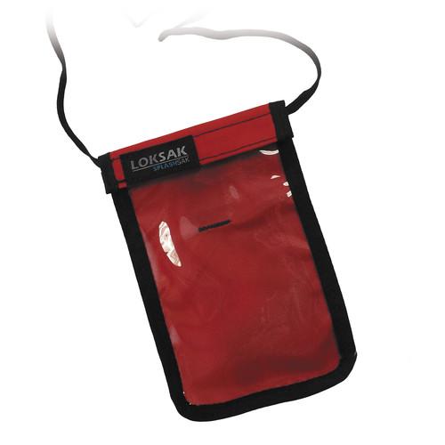 LOKSAK SPLASHSAK Phone Neck Caddy (Red)