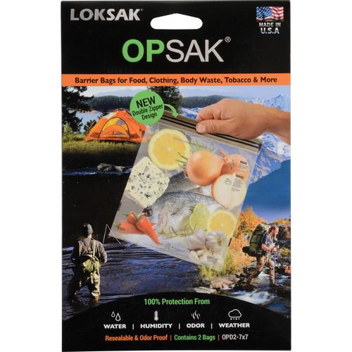"""LOKSAK OPSAK Waterproof Bags - 7 x 7"""" (2-Pack)"""