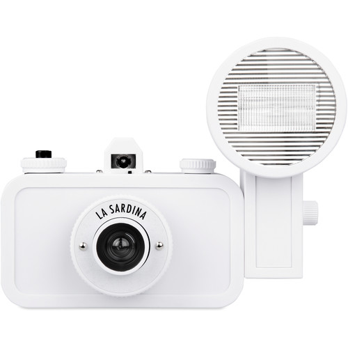 Lomography La Sardina DIY White Edition Camera with Flash