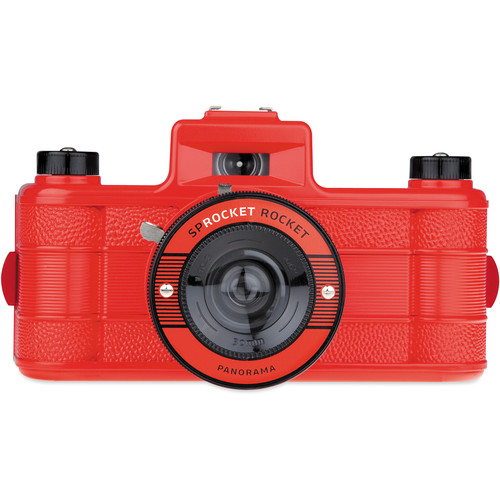 Lomography Sprocket Rocket Superpop! 35mm Film Camera (Red)