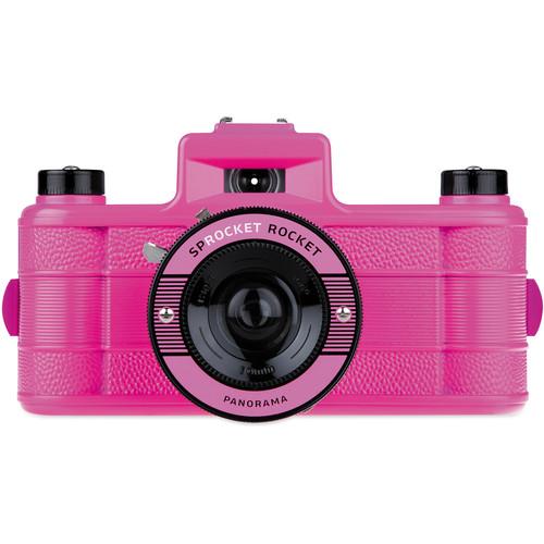 Lomography Sprocket Rocket Superpop! 35mm Film Camera (Pink)