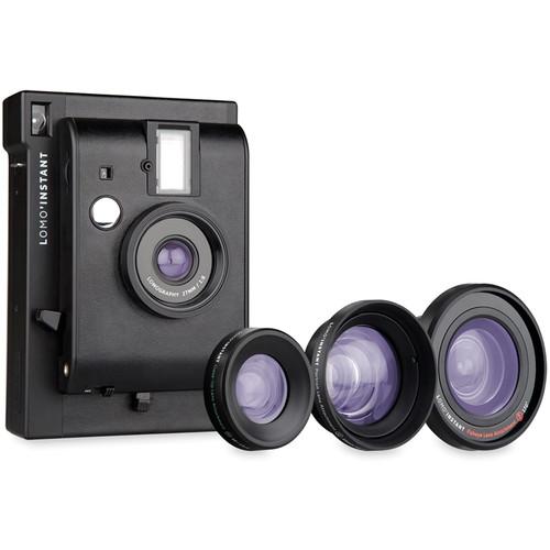 Lomography Lomo'Instant Camera & 3 Lenses (Black)
