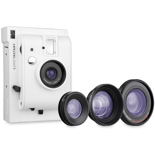 Lomography Lomo'Instant Camera & 3 Lenses (White)
