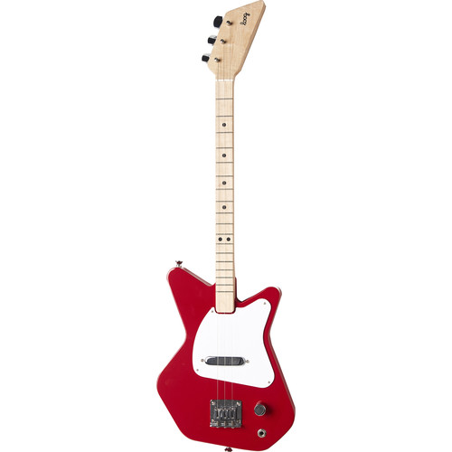 LOOG Pro Electric Guitar for Children (Red)