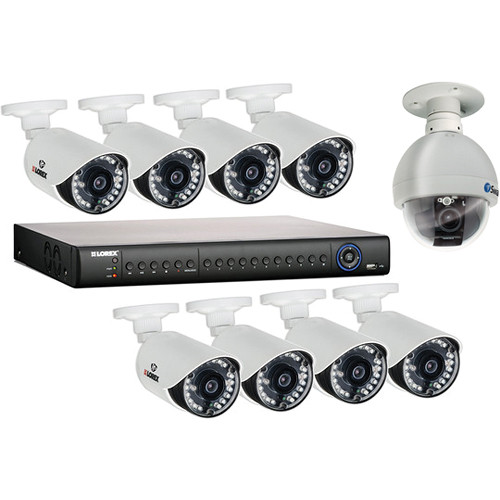 Lorex by FLIR 16-Channel 2TB HDD DVR Kit with Nine Outdoor Cameras