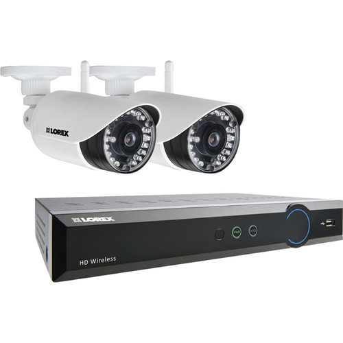 Lorex by FLIR 4-Channel 720p DVR with 1TB HDD and 2 720p Wireless Bullet Cameras