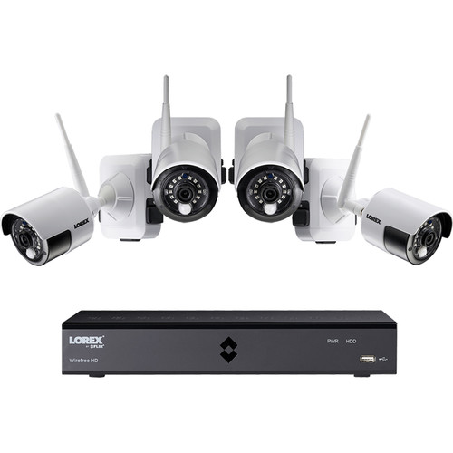 Lorex LHB9061TC4W 6-Channel DVR with 1TB HDD and 4 1080p Wire-Free Night Vision Cameras