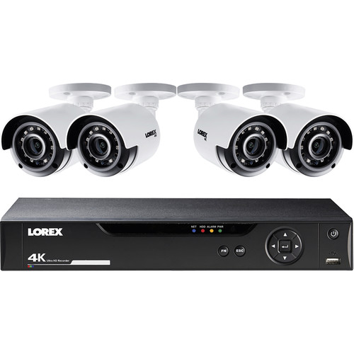 Lorex 8-Channel 4K UHD DVR with 1TB HDD and 4 4K Color Night Vision Bullet Cameras