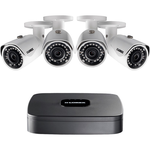 Lorex by FLIR LNR110 Series 4-Channel 4MP NVR with 1TB HDD and 4 3MP Bullet Cameras