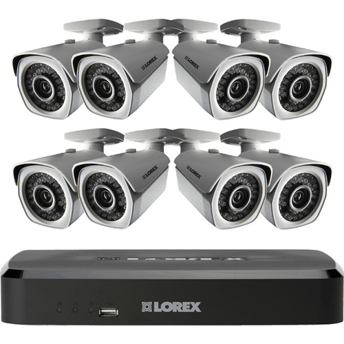 Lorex by FLIR LNR110 Series 8-Channel 3MP NVR with 2TB HDD and 8 1080p Bullet Cameras