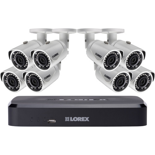 Lorex by FLIR 8-Channel 4MP NVR with 2TB HDD and 8 3MP Outdoor Night Vision Bullet Cameras