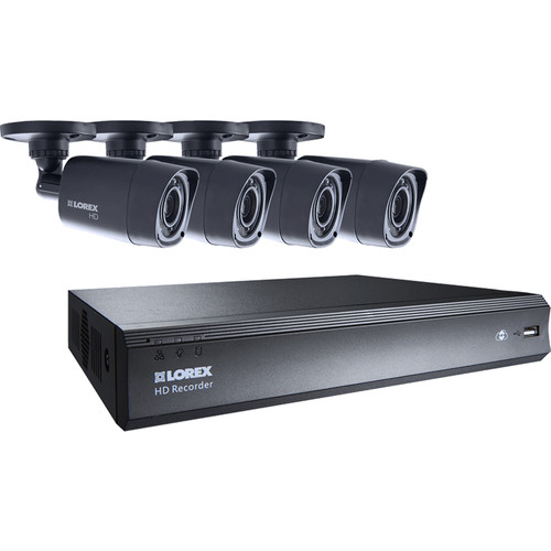 Lorex by FLIR 4-Channel 720p DVR with 1TB HDD and 4 720p Outdoor Bullet Cameras